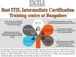 Best ITIL Intermediate Certification Training centre at Bangalore