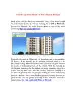 Aries Green Home Ready to Move Flats in Bhiwadi