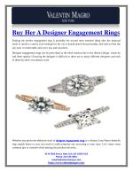 Buy Her a Designer Engagement Rings