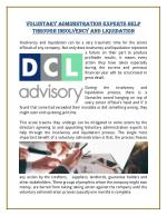 Voluntary Administration Experts Help Through Insolvency And Liquidation