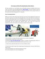 Fix the pipe with Pipe Threading Machine, Rebar Bender
