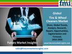 Tire & Wheel Cleaners Market Analysis and Segments 2016-2026