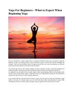 Yoga For Beginners - What to Expect When Beginning Yoga