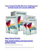 Easy Funnel Profits Review - Easy Funnel Profits 100 bonus items