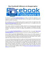 Buy facebook followers at cheapest price