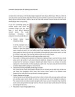 Limitation & Precautions for wearing contact lenses
