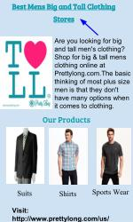 Best mens big and tall clothing stores