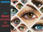 Facts about different Eye Colours