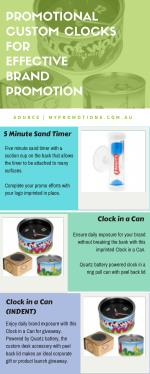 Infographic about Custom Printed Promotional Clocks