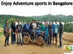 Enjoy adventure sports in Bangalore