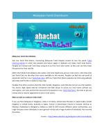 Malaysian Tamil Chat Website | aahachat.org