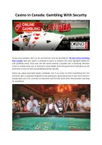 Casino in Canada: Gambling with Security