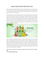 Better Health Option With Aloe Drink