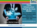 Cloud Infrastructure Testing Services Market Growth, Trends and Value Chain 2014-2020 by FMI