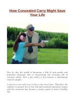How Concealed Carry Might Save Your Life