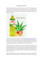 Healthy Peach Aloe Vera Drink