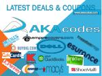 Online Codes, Coupons and Deals