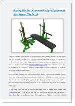 Buying The Best Commercial Gym Equipment Was Never This Easy!