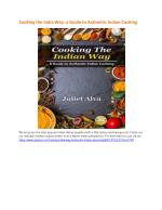 Cooking the India Way a Guide to Authentic Indian Cooking