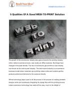 5 qualities of a good web to print solution