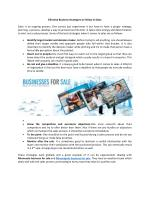 Effective Business Strategies to Follow in Sales