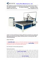 1325 4 X 8 Feet CNC Wood Cutting CNC Router Machine for Slatwall Making Partical Board Cutting 3D Wavy Board Textured MD