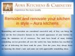Remodel and renovate your kitchen in style – Aura kitchens