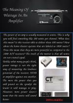 The Meaning of Wattage in an Amplifier