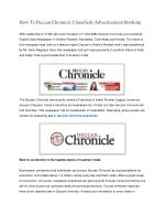 How To Deccan Chronicle Classifieds Advertisement Booking