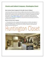 Hire Custom Closet Company for Durable Closets At Home!
