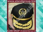 2 Rows Embroidered Officer Peaked Cap