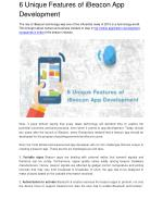 Top 6 Unique Features of iBeacon App Development
