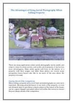 The Advantages of Using Aerial Photography When Selling Property