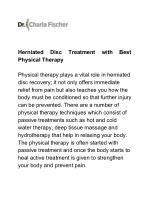 Herniated Disc Treatment with Best Physical Therapy