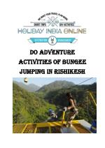 Do Adventure Activities Of Bungee Jumping in Rishikesh