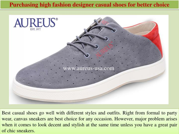 Ppt Purchasing High Fashion Designer Casual Shoes For Better Choice Powerpoint Presentation Id 7423321