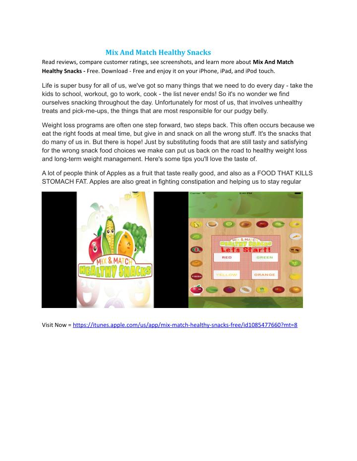 PPT - Mix And Match Healthy Snacks - Free on the App Store