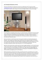 Tips to Buying Contemporary TV Units