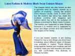 Latest Fashion & Modesty Black Swan Couture Abayas