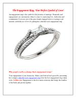 The Engagement Ring, Your Perfect Symbol of Love!