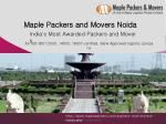 Packers and Movers Noida - Maple Packers and Movers
