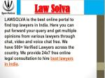 Top lawyers in India - Lawsolva