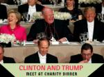 Clinton and Trump meet at charity dinner