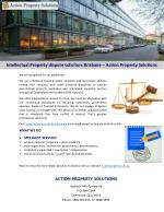 Intellectual Property dispute solicitors Brisbane – Action Property Solutions