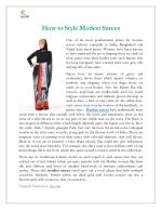 How to Style Modest Sarees