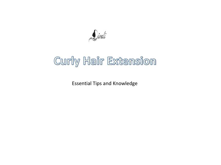 curly hair extension n.