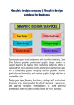 Graphic design company | Graphic design services for Business