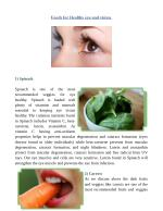 Healthy foods eye and eye sight