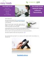 Easy Leads Provide Speedy & Chatty Outbound Telemarketing