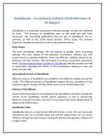 QuickBooks – Accountancy Software With Relevance & Its Support